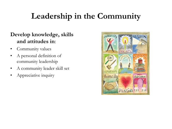 Leadership in the Community