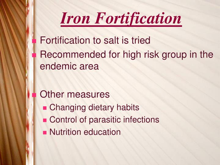 Iron Fortification