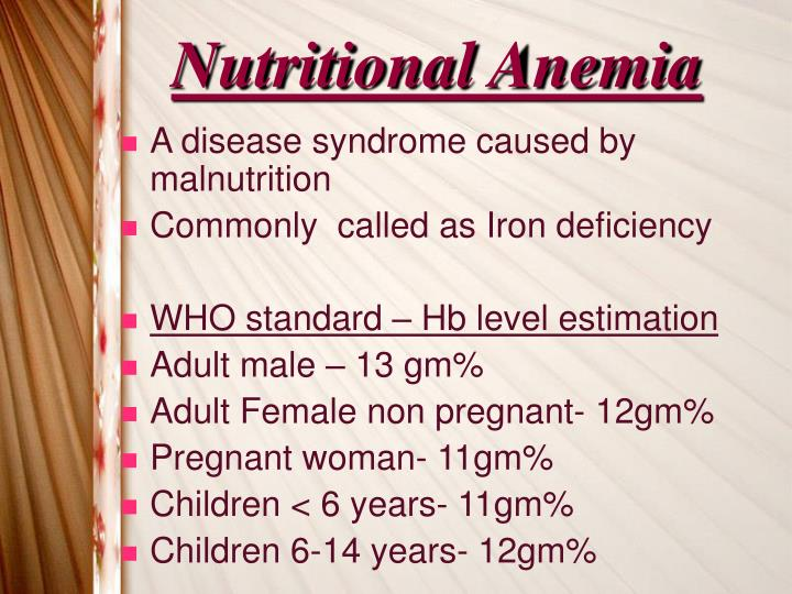 Nutritional Anemia