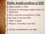 public health problem of idd
