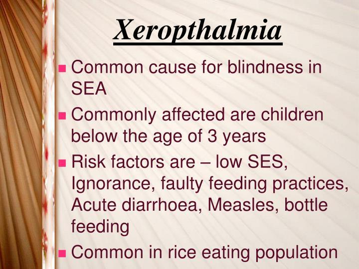 Xeropthalmia