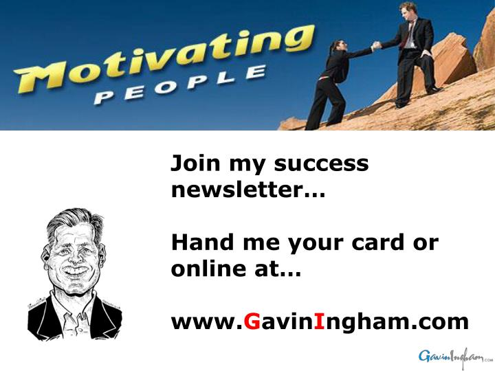 Join my success newsletter…