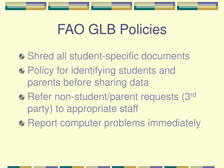 FAO GLB Policies