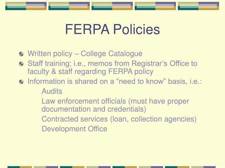 FERPA Policies