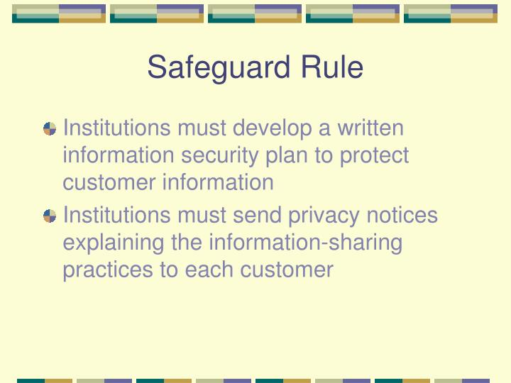 Safeguard Rule