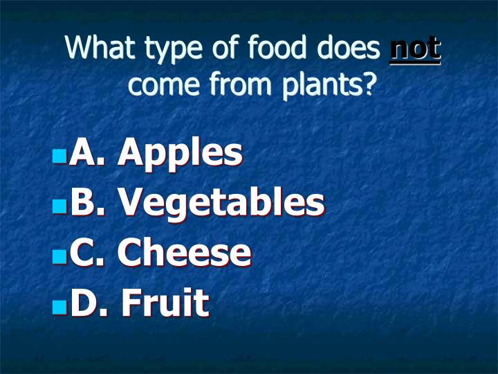 What type of food does