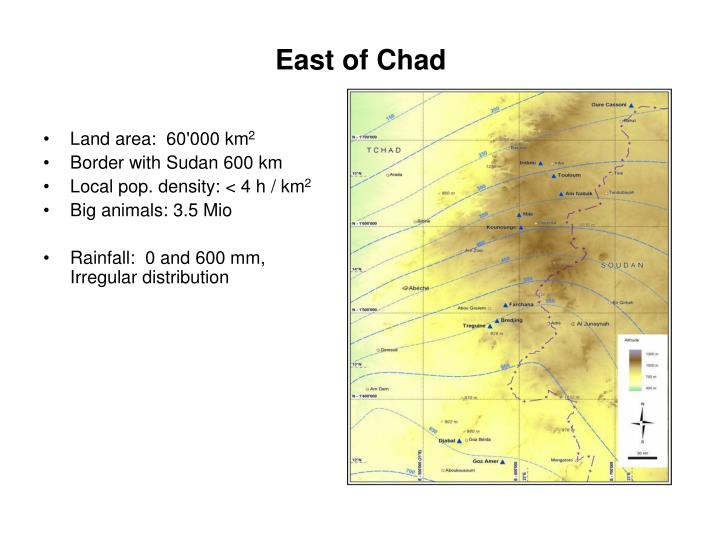 East of chad