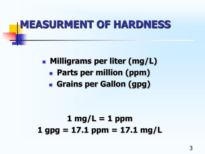 Measurment of hardness