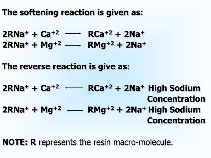 The softening reaction is given as:
