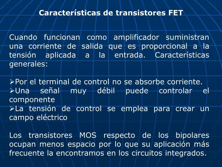 Características de transistores