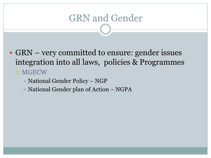 GRN and Gender