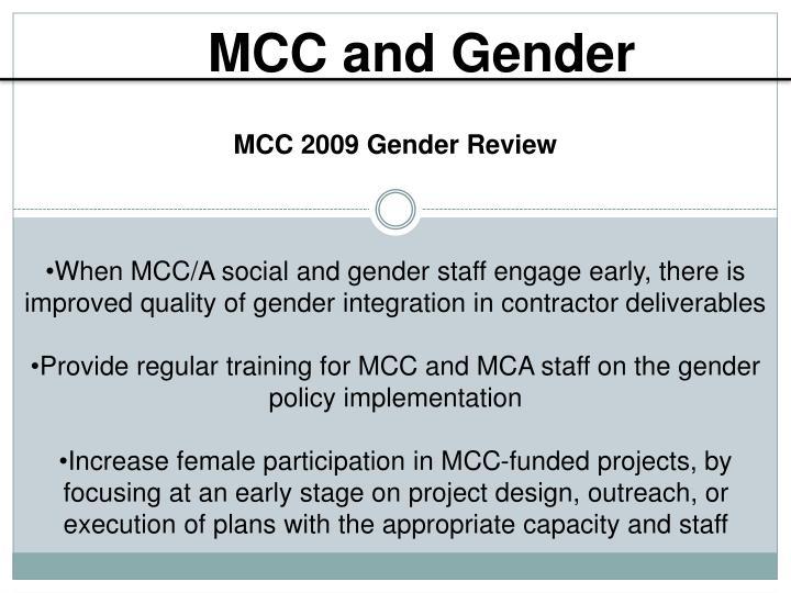 MCC and