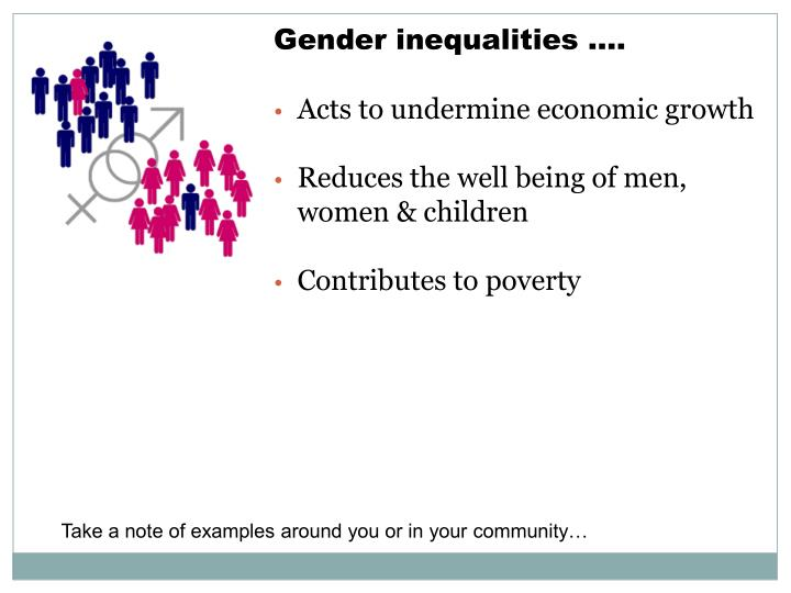 Gender inequalities ….