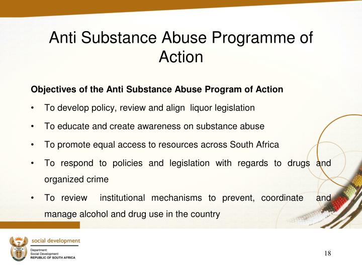 Anti Substance Abuse Programme of Action