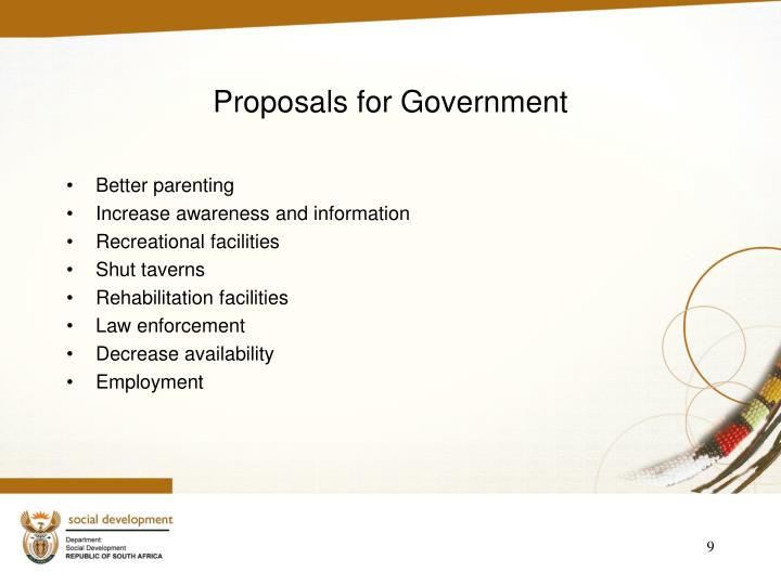 Proposals for Government