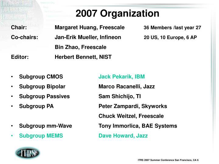 2007 Organization