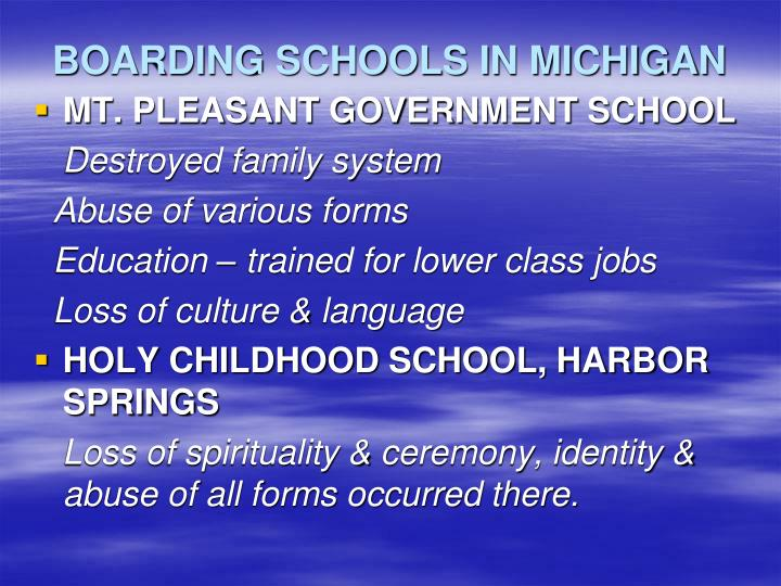 BOARDING SCHOOLS IN MICHIGAN