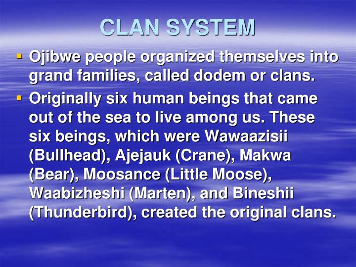 CLAN SYSTEM