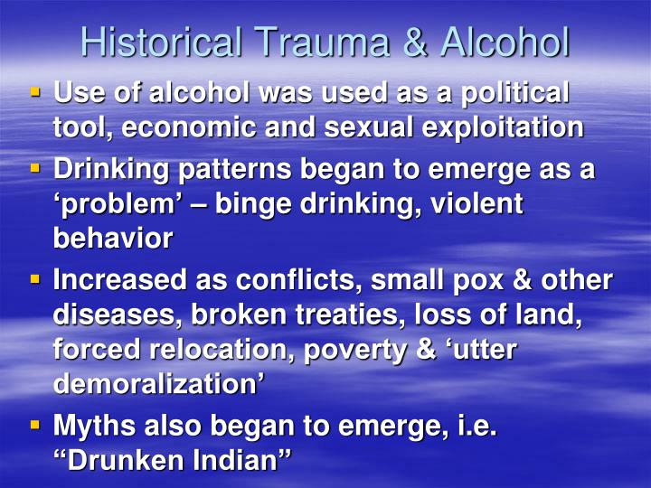 Historical Trauma & Alcohol
