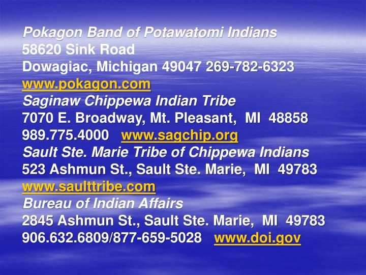 Pokagon Band of Potawatomi Indians