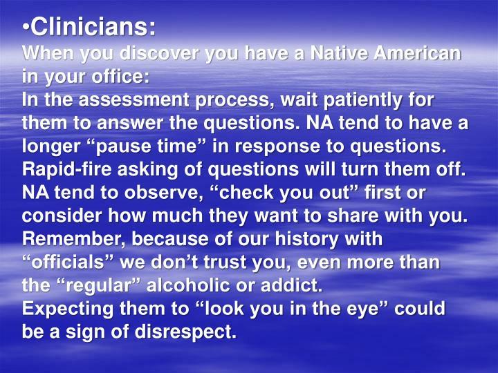 Clinicians: