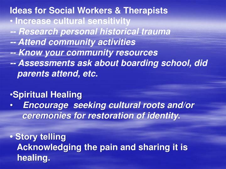 Ideas for Social Workers & Therapists
