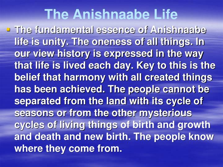 The Anishnaabe Life