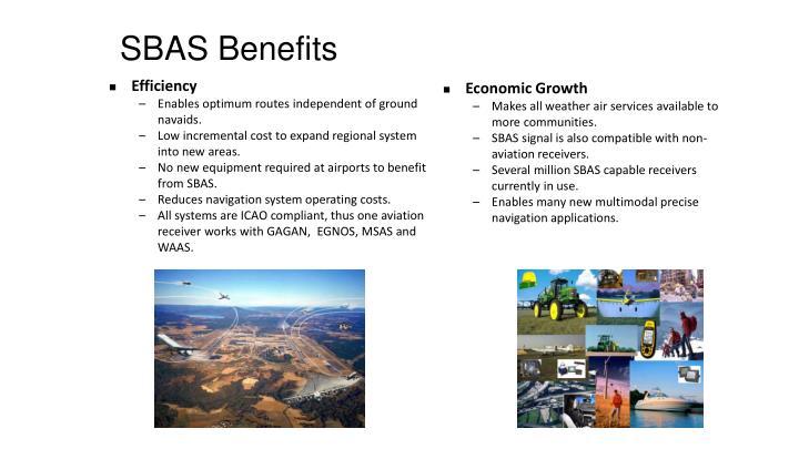 SBAS Benefits