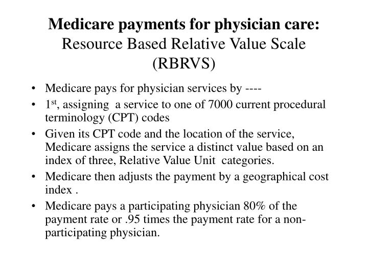 Medicare payments for physician care: