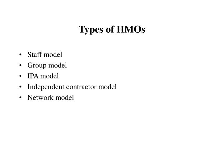 Types of HMOs