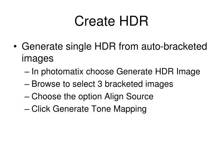 Create HDR