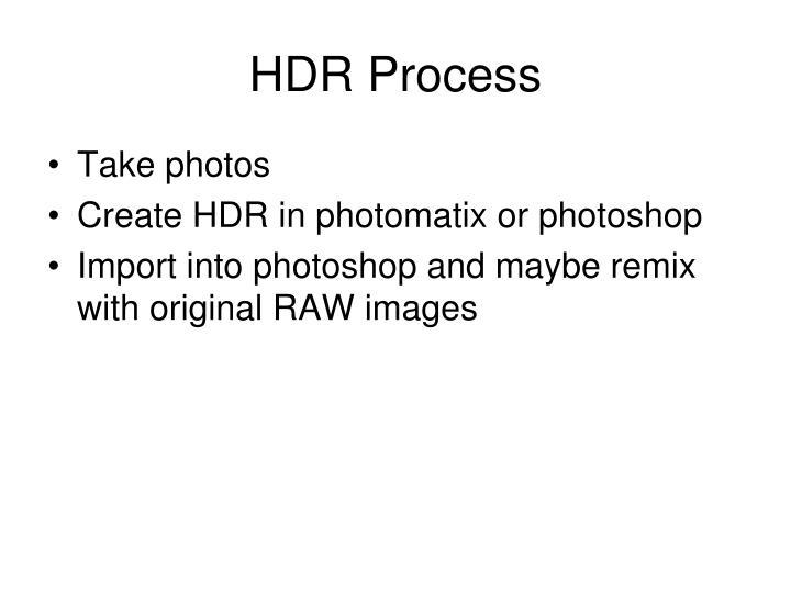 HDR Process