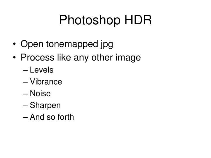 Photoshop HDR