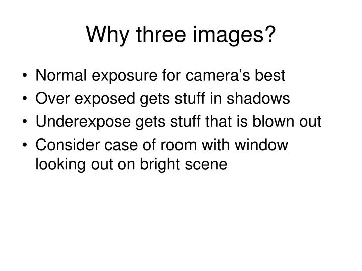 Why three images?