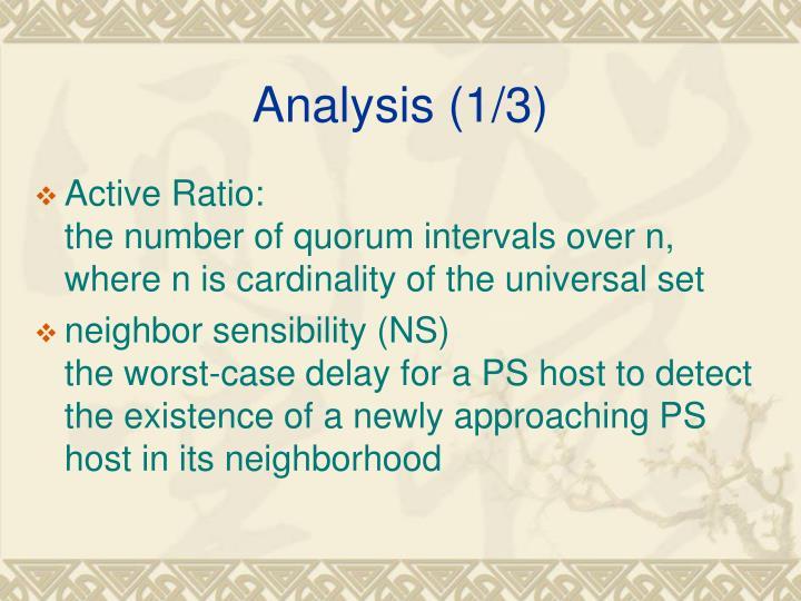 Analysis (1/3)