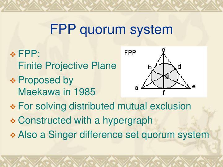 FPP quorum system