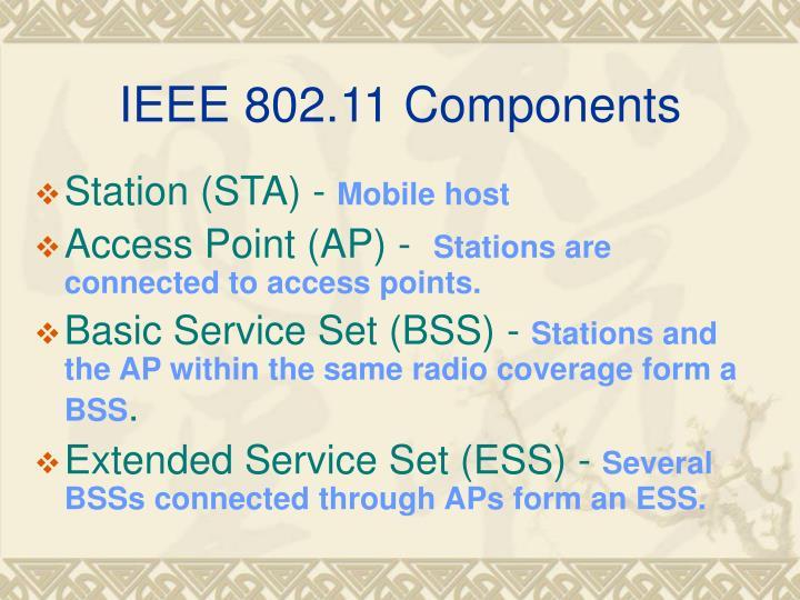 IEEE 802.11 Components