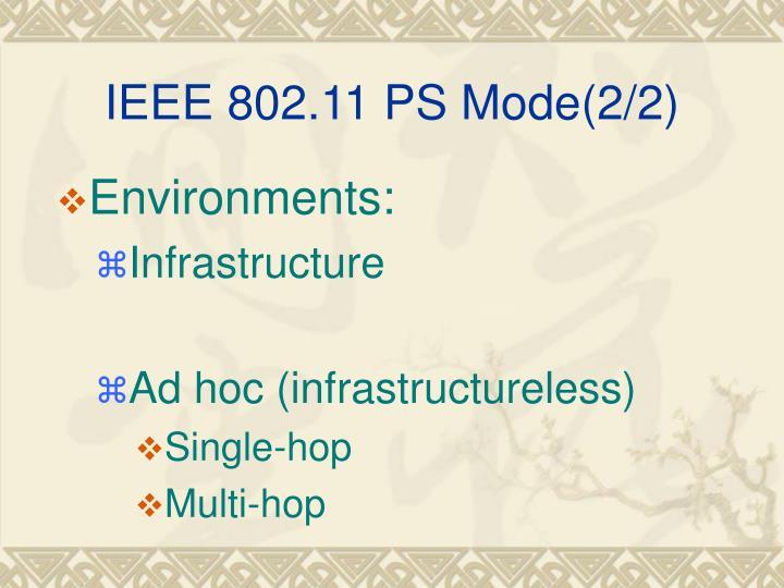 IEEE 802.11 PS Mode(2/2)