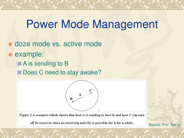 Power Mode Management