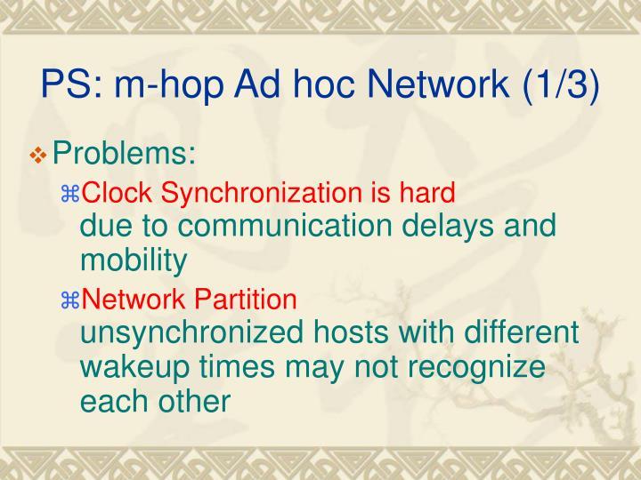 PS: m-hop Ad hoc Network (1/3)