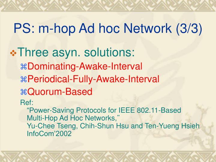 PS: m-hop Ad hoc Network (3/3)