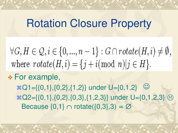 Rotation Closure Property
