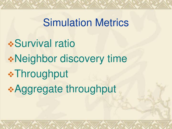 Simulation Metrics