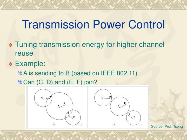 Transmission Power Control
