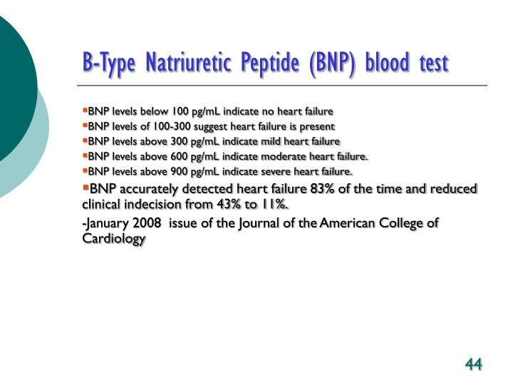 B-Type Natriuretic Peptide (BNP) blood test