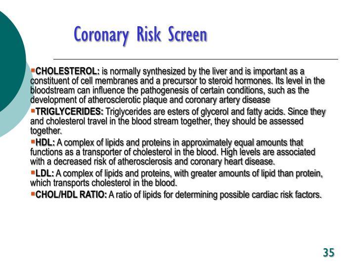 Coronary Risk Screen