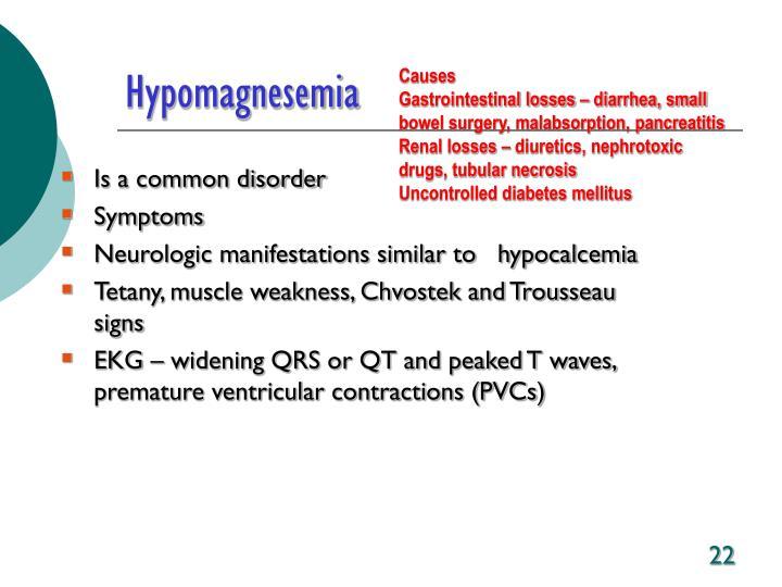 Hypomagnesemia