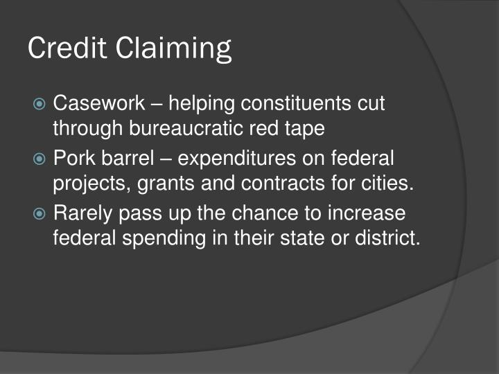 Credit Claiming