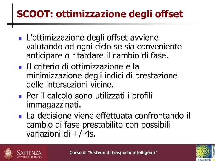 SCOOT: ottimizzazione degli offset