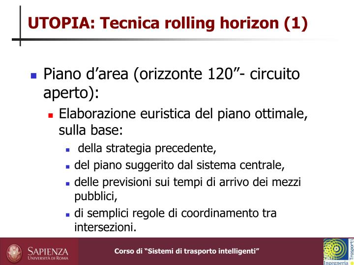 UTOPIA: Tecnica rolling horizon (1)